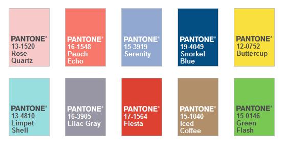 Модные оттенки 2016 PANTONE