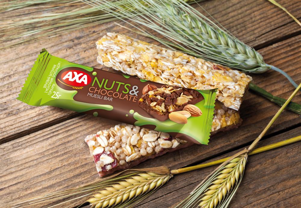 Зерновые батончики AXA