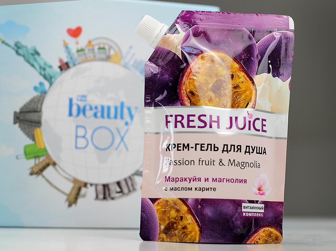 Крем-гель для душа Fresh Juice с ароматом маракуйи и магнолии