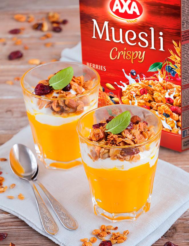 AXA Muesli Crispy с ягодами