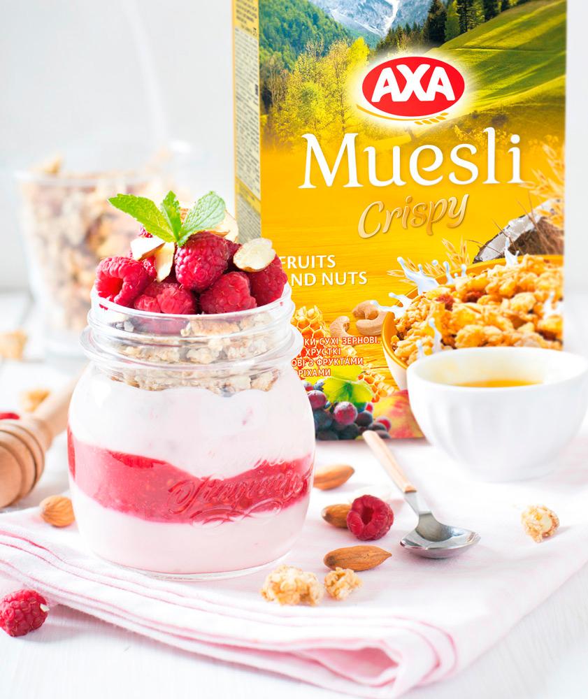AXA Muesli Crispy с фруктами и орехами