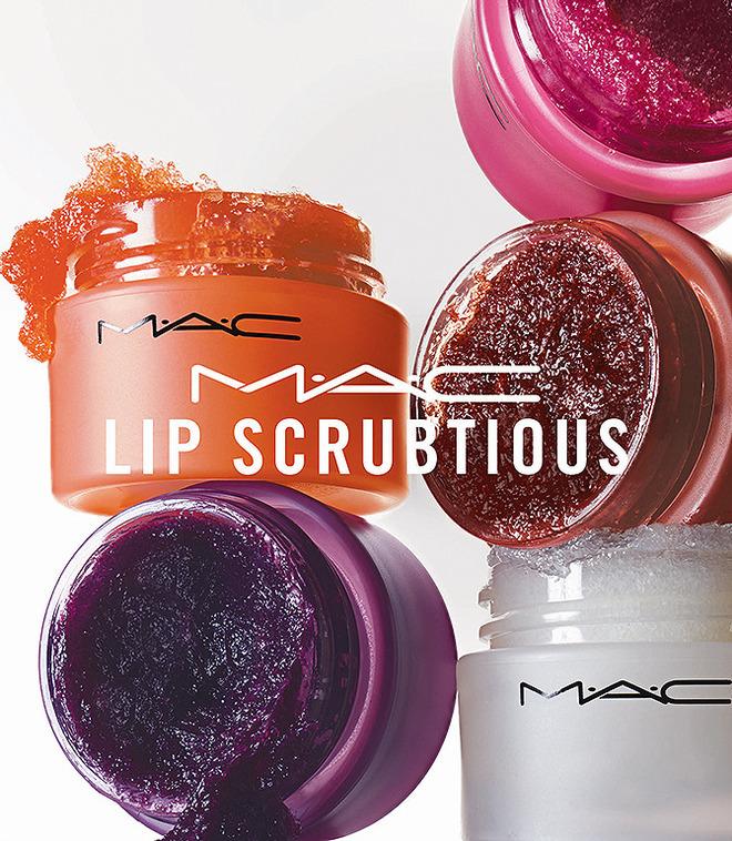Скрабы из коллекции Lip Scrubtious M.A.C (сладкая ваниль, плод страсти, цукаты, лесная ягода (summer berry), сладкий коричневый сахар) $16