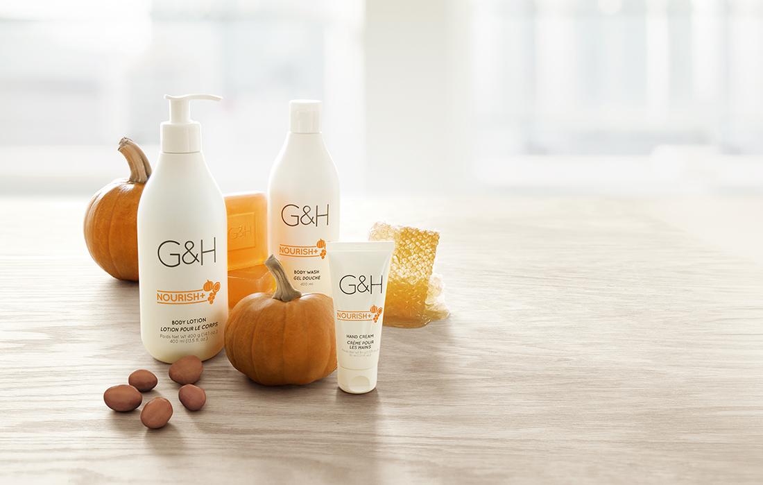 Amway G&HNOURISH+ успокаивает поврежденную кожу