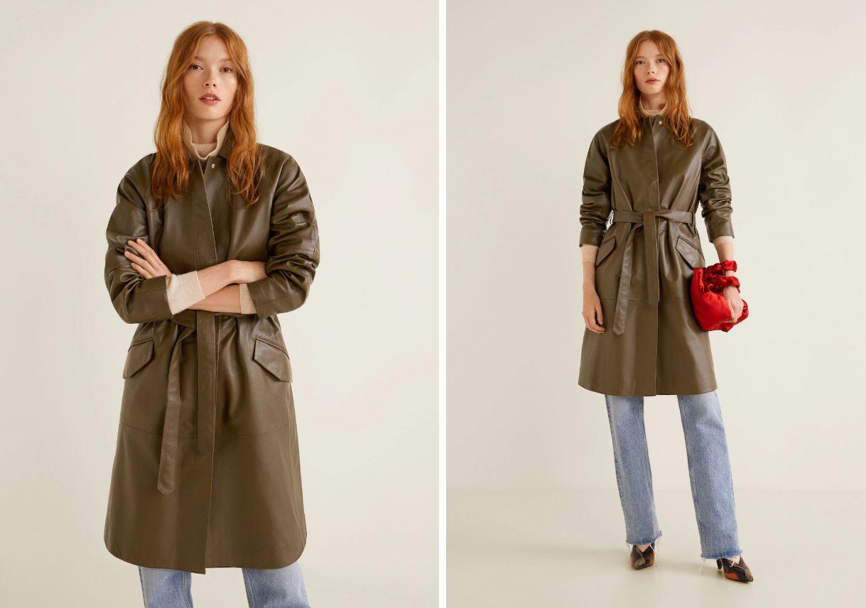 кожаные пальта зима весна 2019