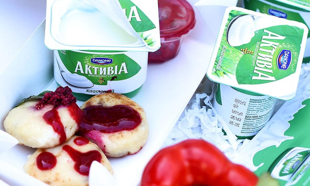 завтрак. йогурты активиа