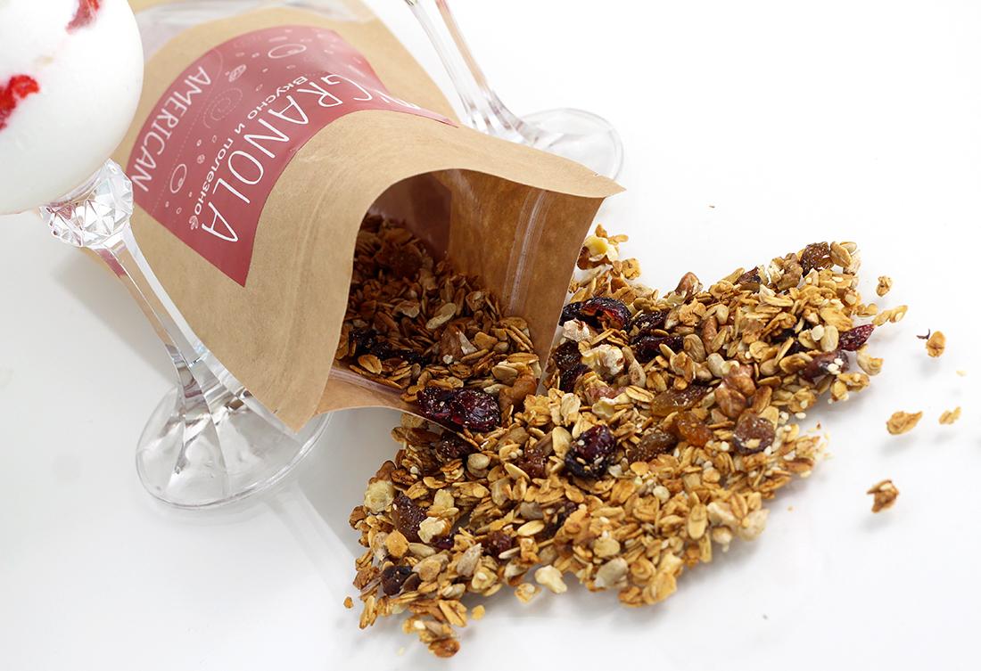 Натуральная гранола O'Granola с сушеной клюквой