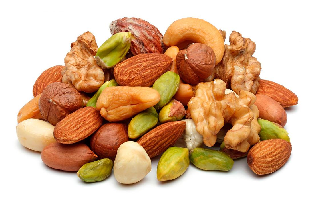Орешки, миндаль, кешью, арахис, фисташки