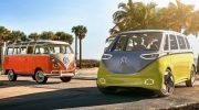 Volkswagen I.D. Buzz: электрический хиппи-мобиль в стилистике 1960-х