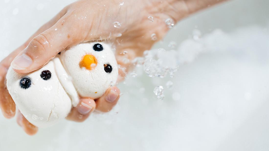 пена для ванны lush снеговик