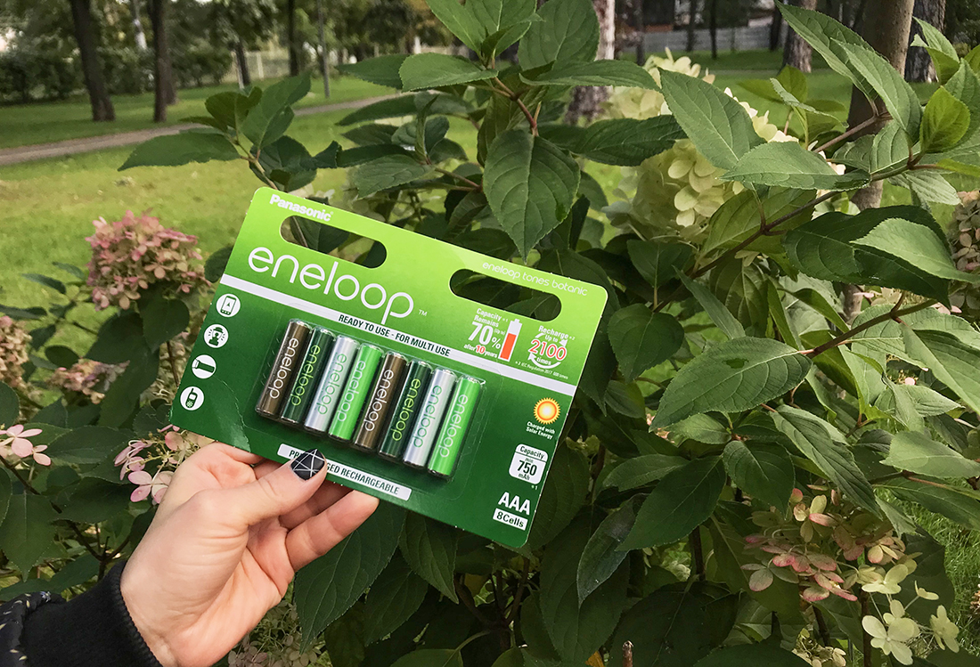 Panasonic eneloop botanic colors: заряжаемые аккумуляторы с миссией