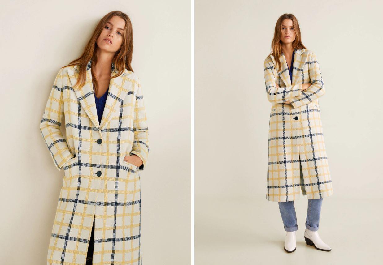 пальто в клетку - тренды пальто зима весна 2019, модные женские пальто