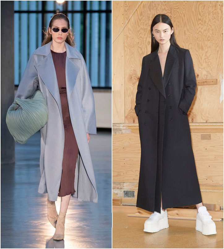 Пальто макси - тренды пальто зима весна 2019, модные женские пальто