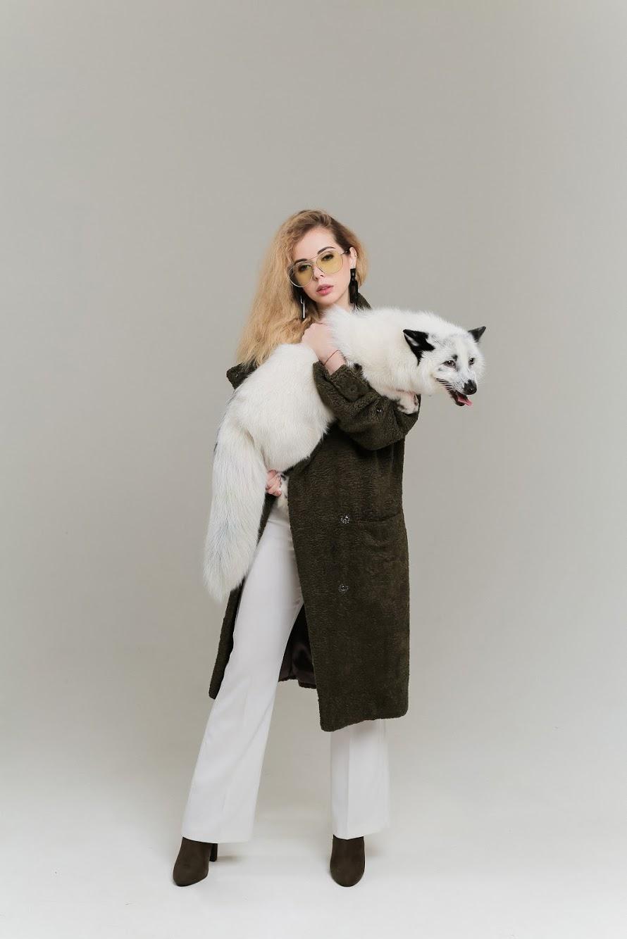 Пальто из искусственного меха SOLH